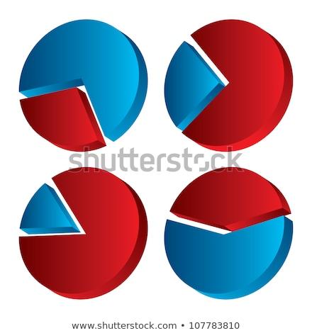 set of shiny graphics and diagrams Stock photo © m_pavlov