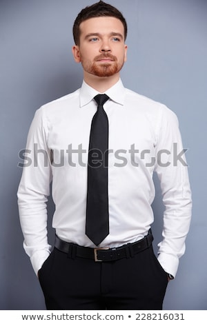 Necktie and white shirt Stock photo © pongam
