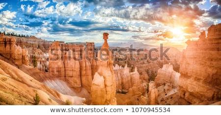 dramático · deserto · desfiladeiro · nascer · do · sol · ferradura - foto stock © mtilghma