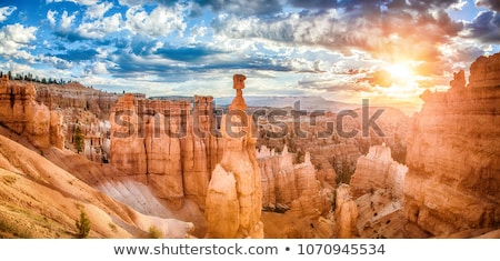 impressionante · pôr · do · sol · deserto · Arizona · dourado · nuvens - foto stock © mtilghma