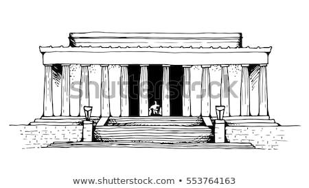 Capitolium · épület · sziluett · Washington · DC · USA · sziluett - stock fotó © slobelix