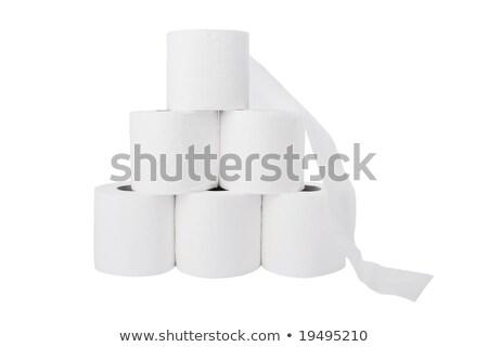 Sette carta igienica isolato bianco carta Foto d'archivio © RuslanOmega