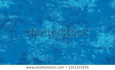 Kék grunge folt fehér festék terv Stock fotó © mikemcd