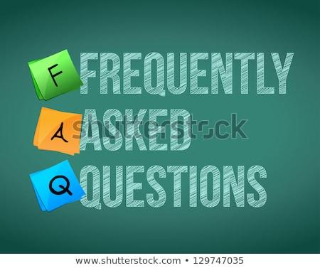 FAQ Często zadawane pytania Skrót zapisany na tablicy Zdjęcia stock © alexmillos