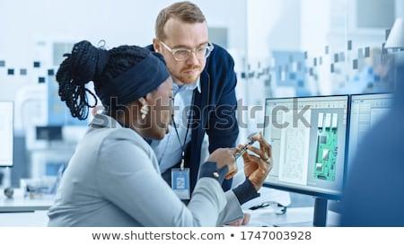 elektronika · mérnök · tesztelés · számítógép · alkatrész · műhely · üzlet - stock fotó © photography33