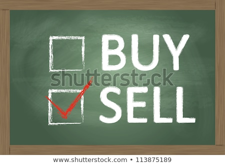 buy or sell check boxes on blackboard stock photo © bbbar