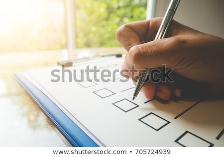 Business concept: check box at office Stock photo © scornejor