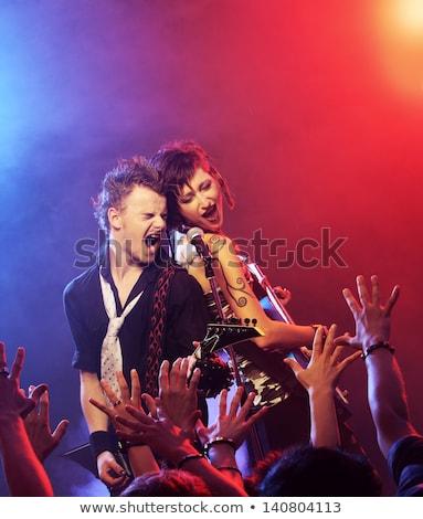 Guitariste fans club fête musique Photo stock © get4net
