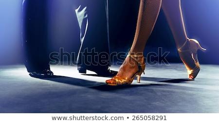 pár · tánc · póz · szenvedélyes · férfi · tart - stock fotó © feedough
