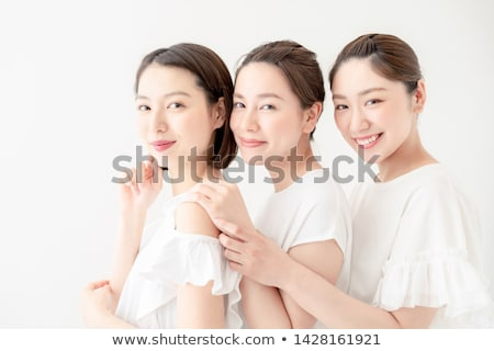 heureux · trois · asian · soeurs · portrait · vacances - photo stock © ampyang