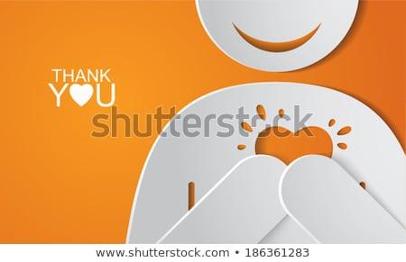 obrigado · nota · provérbio · obrigado · assinar - foto stock © ansonstock