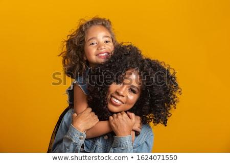 портрет женщину ребенка учитель Kid улыбаясь Сток-фото © photography33