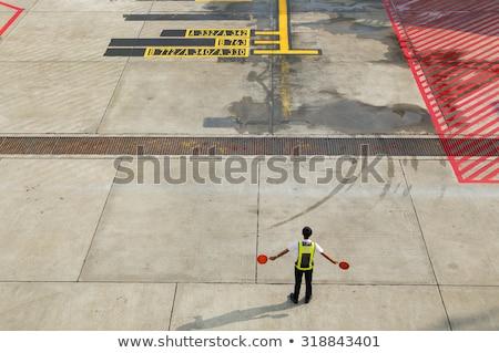 pista · avión · volar · aeropuerto · puesta · de · sol · amanecer - foto stock © photography33