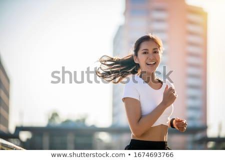 sporty asian woman stock photo © aremafoto