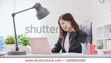 secrétaire · casque · chinois · femme · appelant · parler - photo stock © photography33
