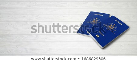 Australiano passaporte computador preto teclado Foto stock © luapvision
