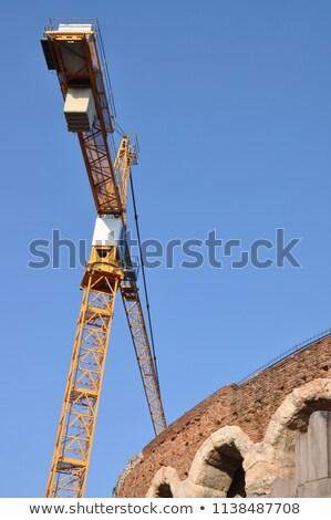 Aréna Verona Olaszország függőlegesen ősi amfiteátrum Stock fotó © frank11