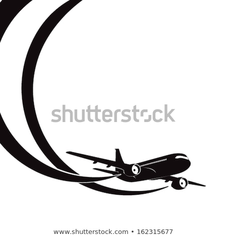passenger jet silhouette stock photo © mechanik