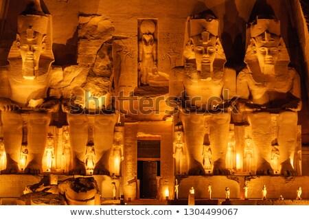 Templom király királynő Egyiptom épület sivatag Stock fotó © frank11