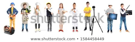 child pretending to be a florist stock photo © photography33