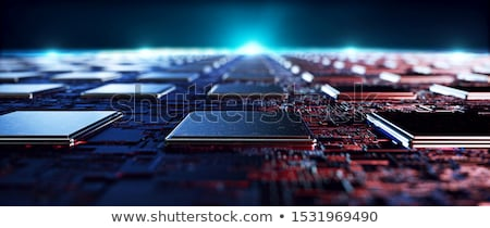 3D processador digital computador laptop tecnologia Foto stock © sscreations