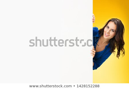 business lady with bill board stock photo © vectomart