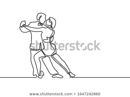 Pár szamba illusztráció előad tánc fehér Stock fotó © vectomart
