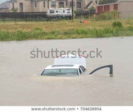 Car swamping in flood water stock photo © Witthaya