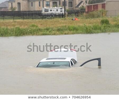 Stok fotoğraf: Car Swamping In Flood Water