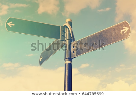 right direction road sign stock photo © bbbar