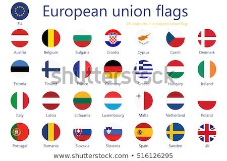 Romênia bandeira ícone isolado branco fundo Foto stock © zeffss