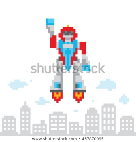 スペース 飛行 ロボット デザイン 技術 青 ストックフォト © jossdiim
