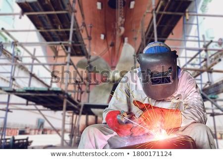 ver · céu · trabalhar · barco · navio · industrial - foto stock © lebanmax