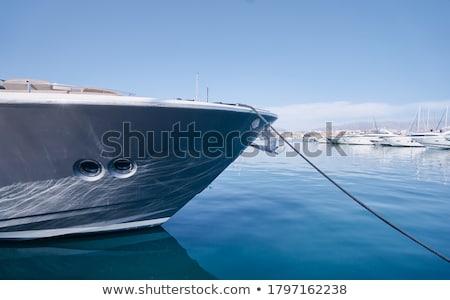 Barco branco pequeno porto Foto stock © lebanmax