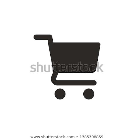 Kéz bevásárlókocsi ikon férfi kisajtolás üzlet Stock fotó © vlad_star