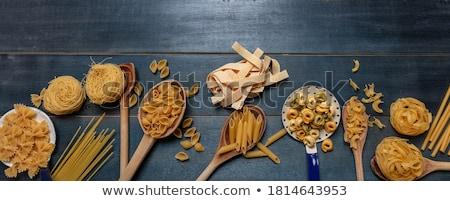 生 · パスタ · 白 · 新鮮な · スパゲティ - ストックフォト © M-studio