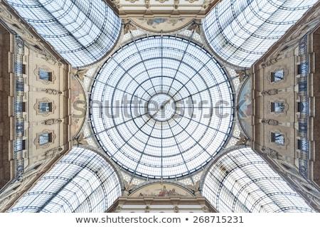 Galeria vidro cúpula milan Itália projeto Foto stock © photosil