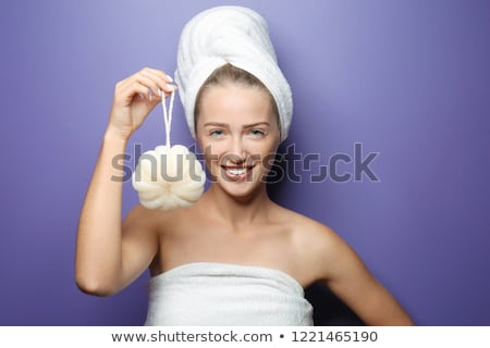 Body care: Woman holding shower head Stock photo © CandyboxPhoto