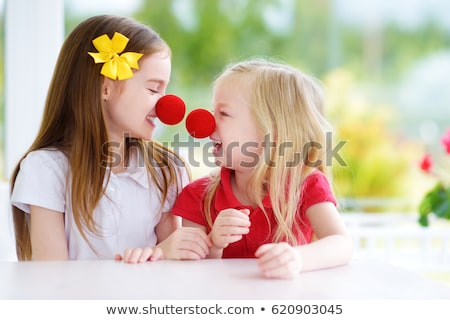 Funny little girl wearing red nose Stock photo © photography33