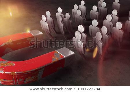 figyelem · fotó · férfi · kéz · mutatóujj · mutat - stock fotó © pressmaster