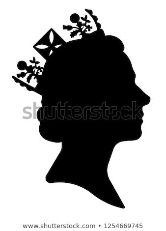 Rainha texto ilustração palavra coroa governante Foto stock © lenm