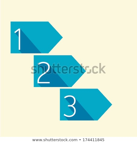 One two three - vector paper steps Stock photo © orson