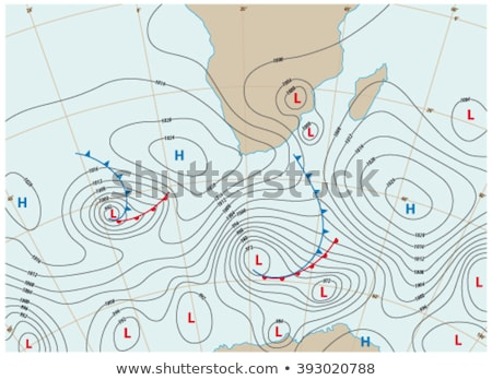Map showing earth temperature flow Stock photo © lkeskinen