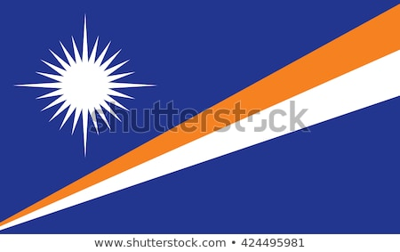 Political waving flag of Marshall Islands Stock photo © perysty
