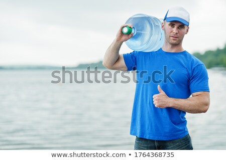 Delivery Man Carrying Water Stock photo © lisafx