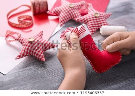 Christmas needlework stock photo © yul30