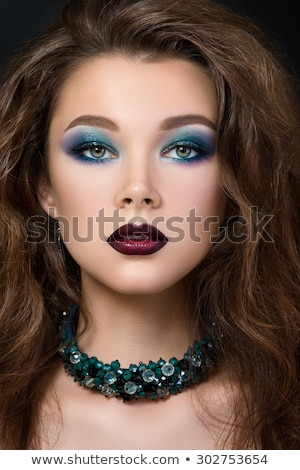 Beautiful portrait of young aristocratic pretty woman Stock photo © gromovataya