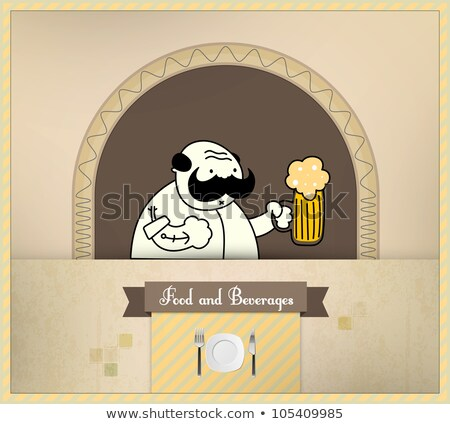 barman · bier · voedsel · dranken - stockfoto © involvedchannel