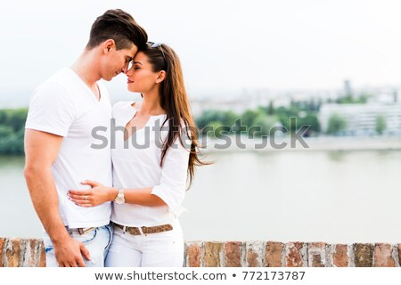 couple rubbing noses Stock photo © photography33