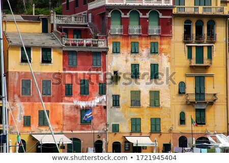 Sea dock and colored houses. Portofino Stock photo © michey
